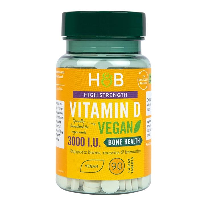 Holland & Barrett Vegan Vitamin D 75ug 90 Tablets