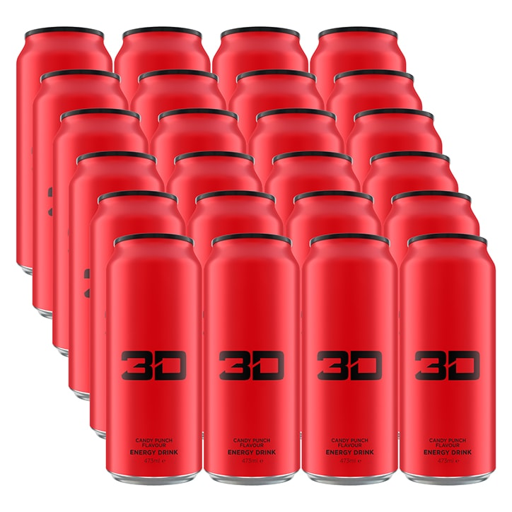 3D Energy Red Candy Punch Box 24 x 473ml