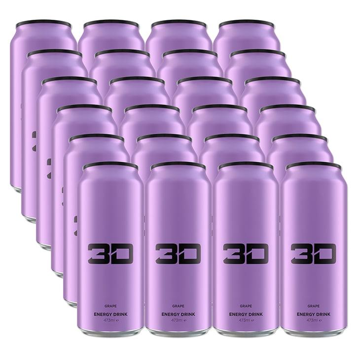 3D Energy Purple Grape Box 24 x 473ml