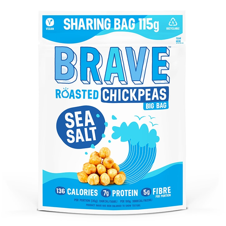 BRAVE Roasted Chickpeas Sea Salt 115g
