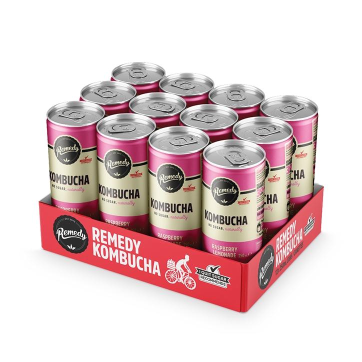 Remedy Raspberry Lemonade Kombucha 12 x 250ml