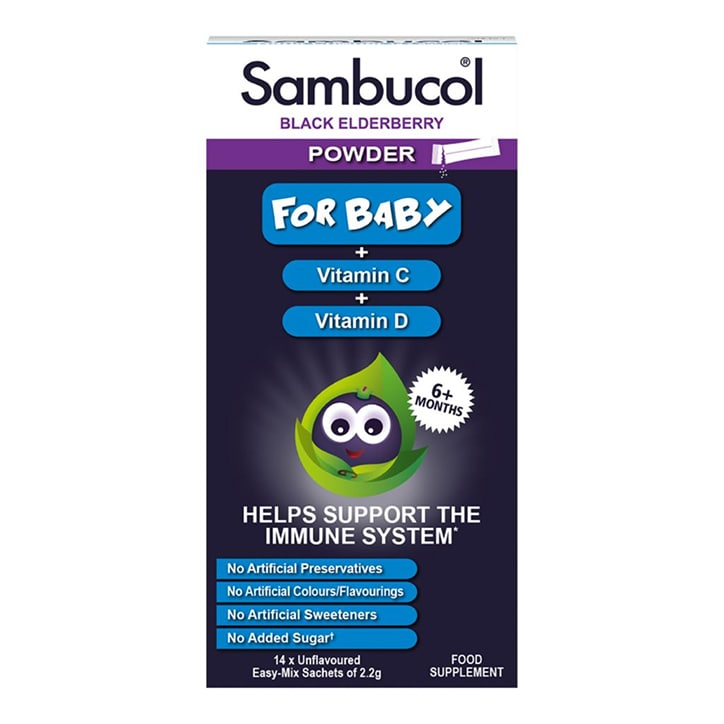 Sambucol Black Elderberry Baby Powder 14 x 2.2g Sachets