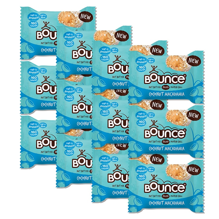 Bounce Coconut and Macadamia Filled Protein Ball 12 x 35g