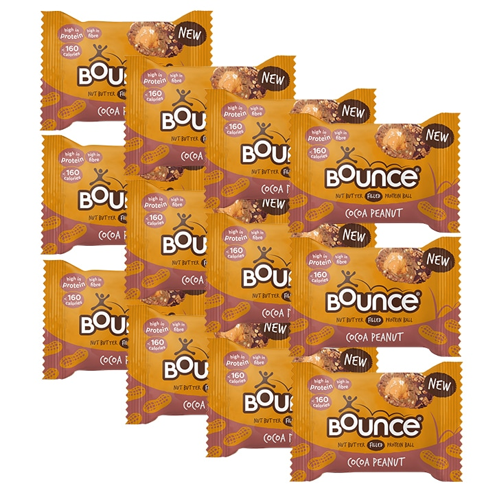 Bounce Peanut Butter Filled Cocoa Protein Ball 12 x 35g