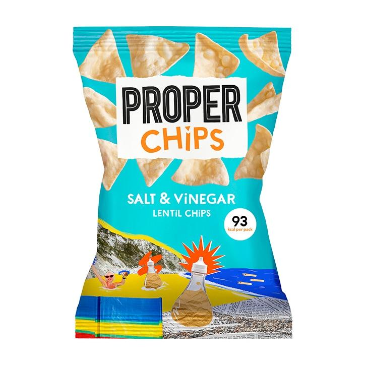 Properchips Salt & Vinegar Lentil Chips Sharing Bags 85g