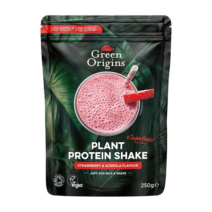 Green Origins Plant Protein Shake Strawberry & Acerola 250g
