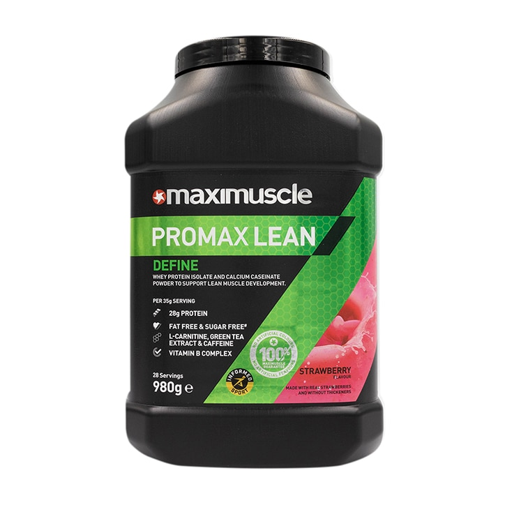 MaxiMuscle Promax Lean Protein Strawberry 980g