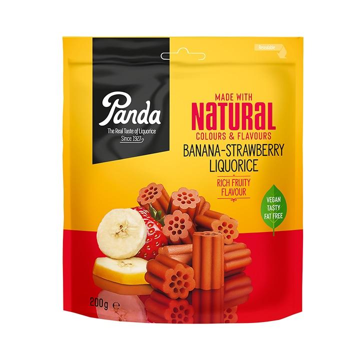 Panda Liqourice Banana & Strawberry 200g