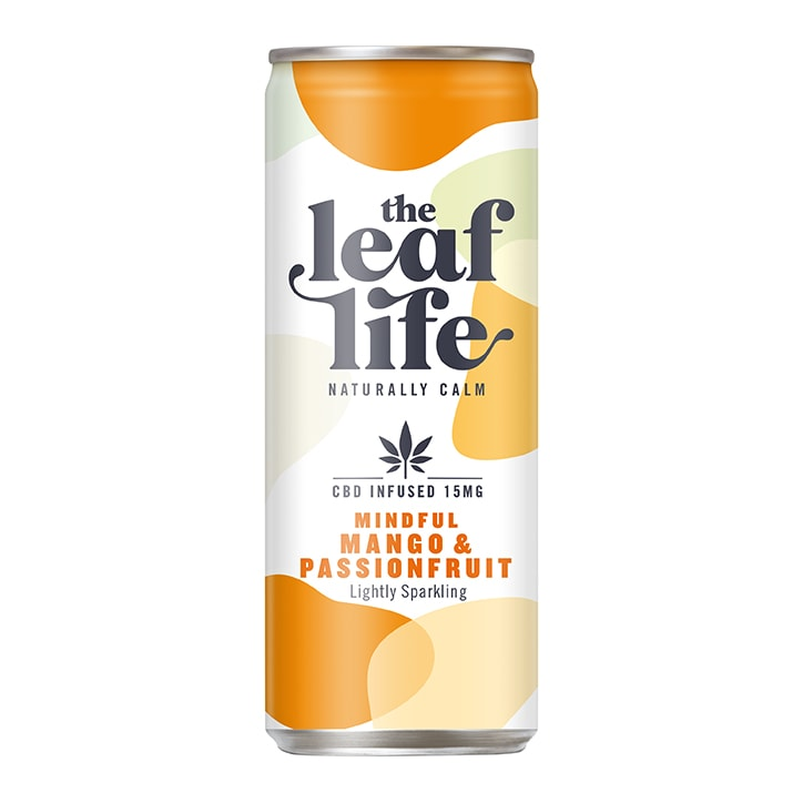 The Leaf Life Mindful Mango & Passionfruit CBD Infused Juice Drink 250ml