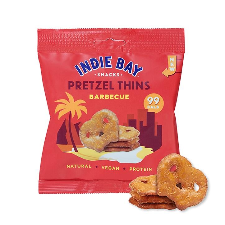 Indie Bay Snacks Pretzel Thins Barbecue 24g