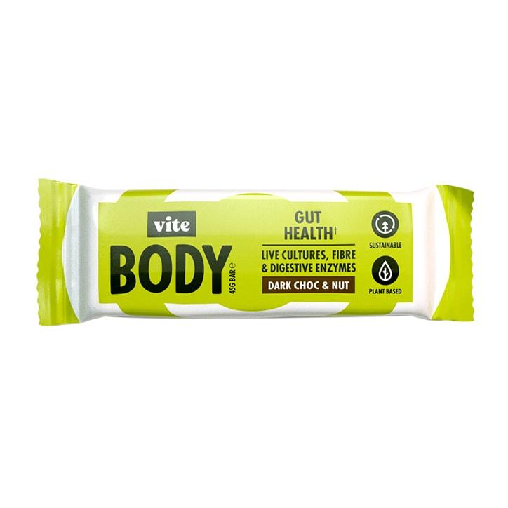 Vite Body Gut Health Dark Choc & Nut Bar 45g