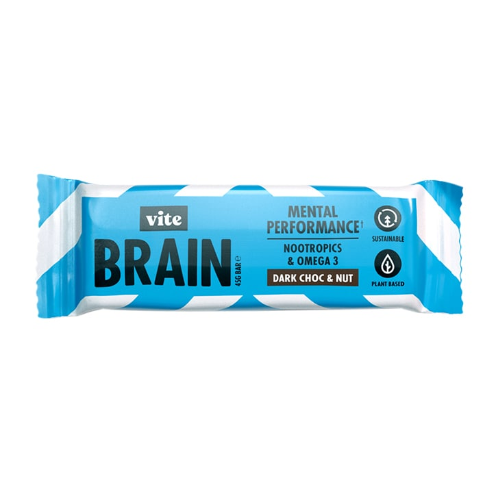 Vite Brain Dark Choc & Nut Bar 45g