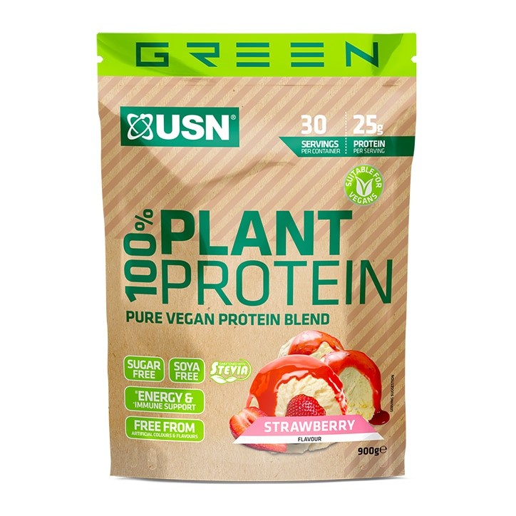 USN 100% Plant Protein Strawberry 900g