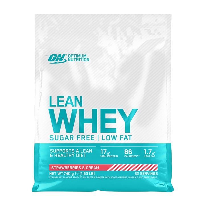 Optimum Nutrition Lean Whey Sugar Free Strawberries & Cream 740g