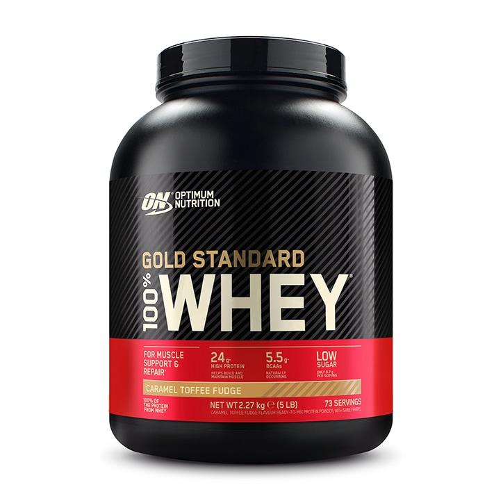 Optimum Nutrition Gold Standard 100% Whey Caramel Toffee Fudge 2200g