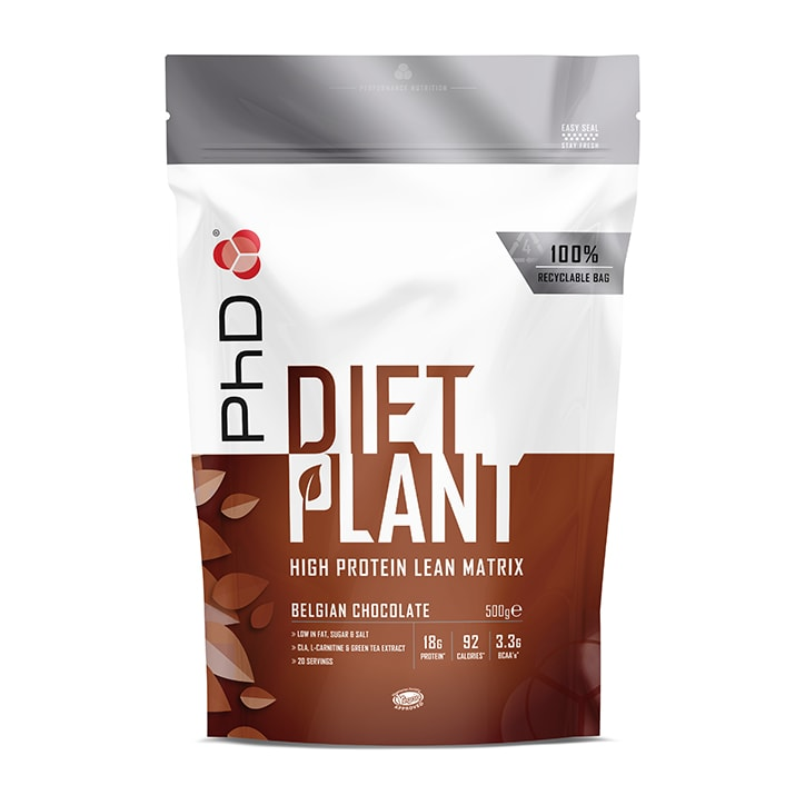 PhD Nutrition Diet Plant Belgian Chocolate 500g