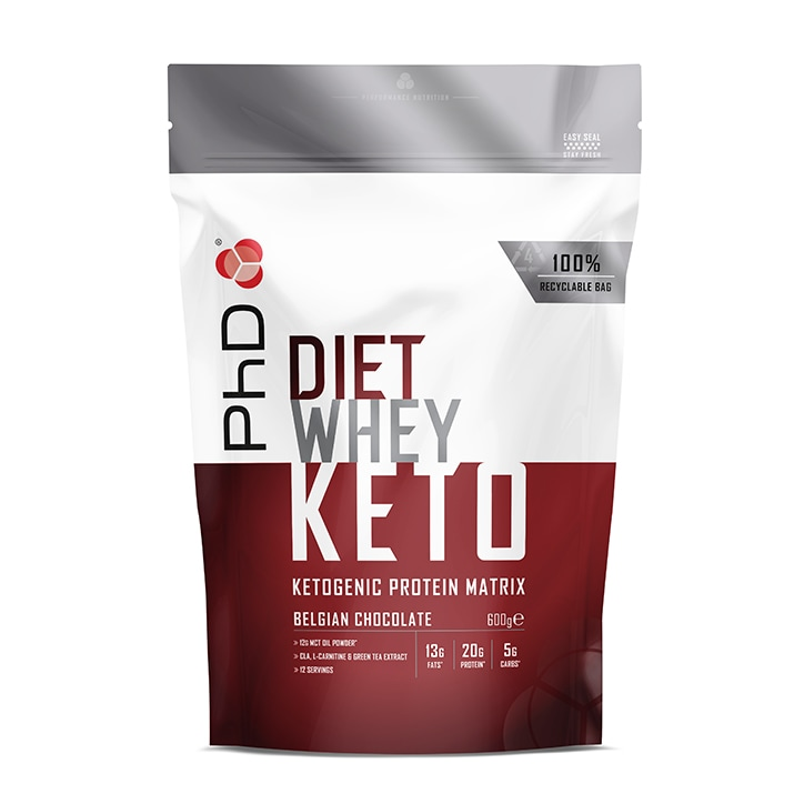 PhD Nutrition Diet Whey Keto Belgian Chocolate 600g