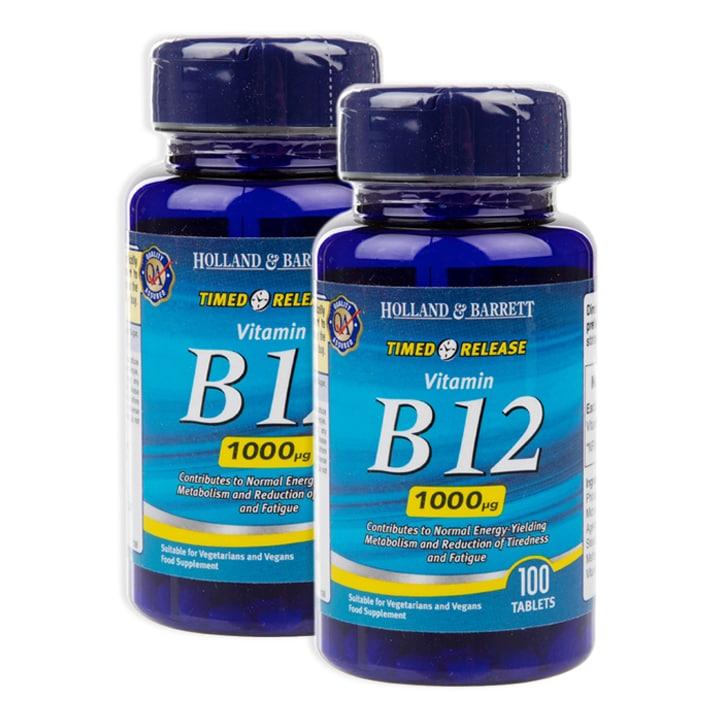 Holland & Barrett Timed Release Vitamin B12 200 Tablets 1000ug