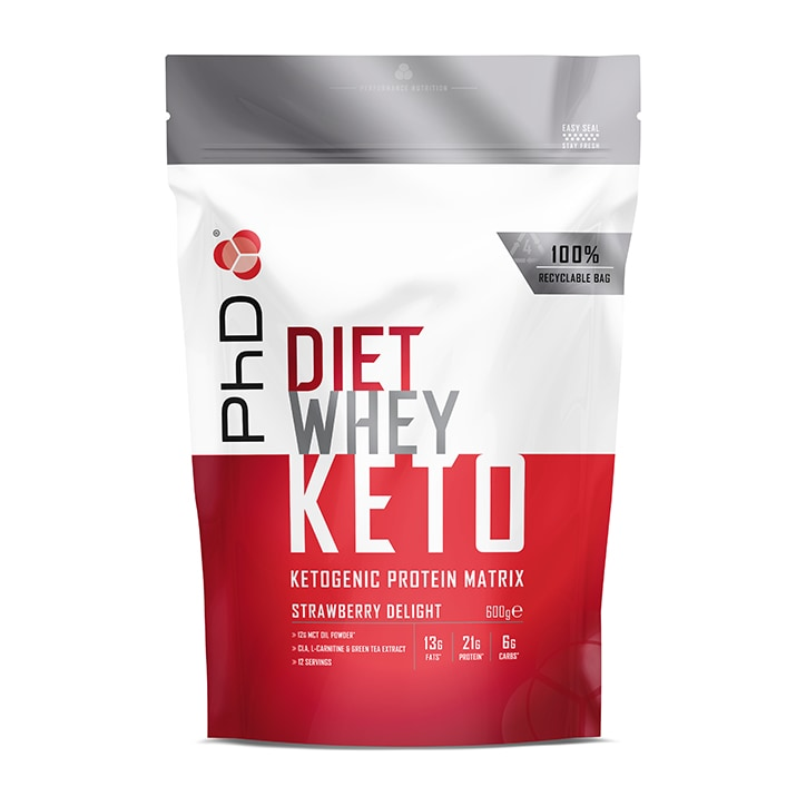 PhD Nutrition Diet Whey Keto Strawberry Delight 600g