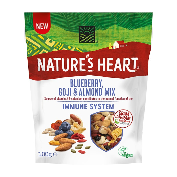 Nature's Heart Blueberry, Goji & Almond Immune System Mix 100g