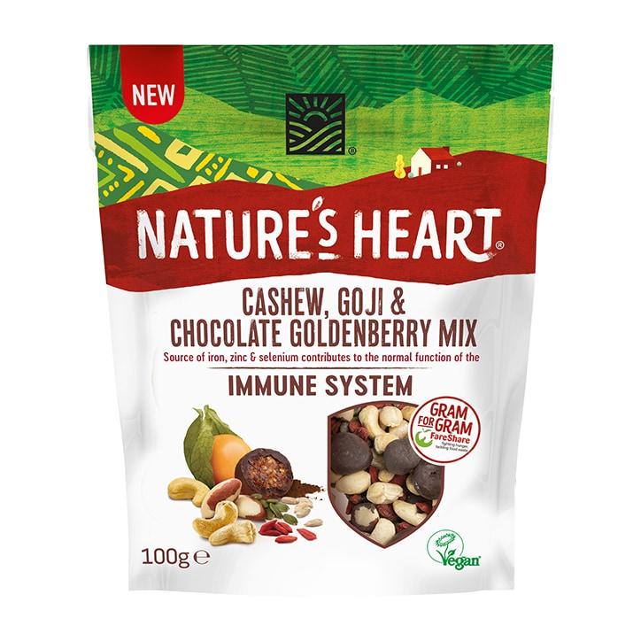 Nature's Heart Cashew, Goji & Chocolate Goldenberry Immune System Mix 100g