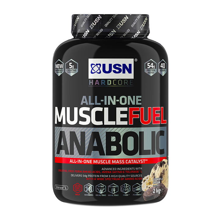 USN Muscle Fuel Anabolic All-In-One Shake Cookies & Cream 2kg