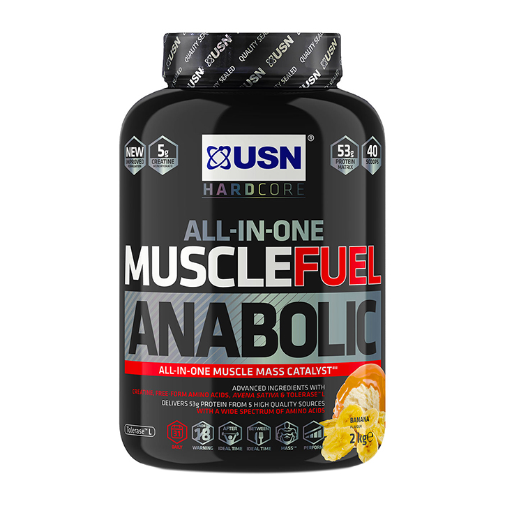 USN Muscle Fuel Anabolic All-In-One Shake Banana 2kg