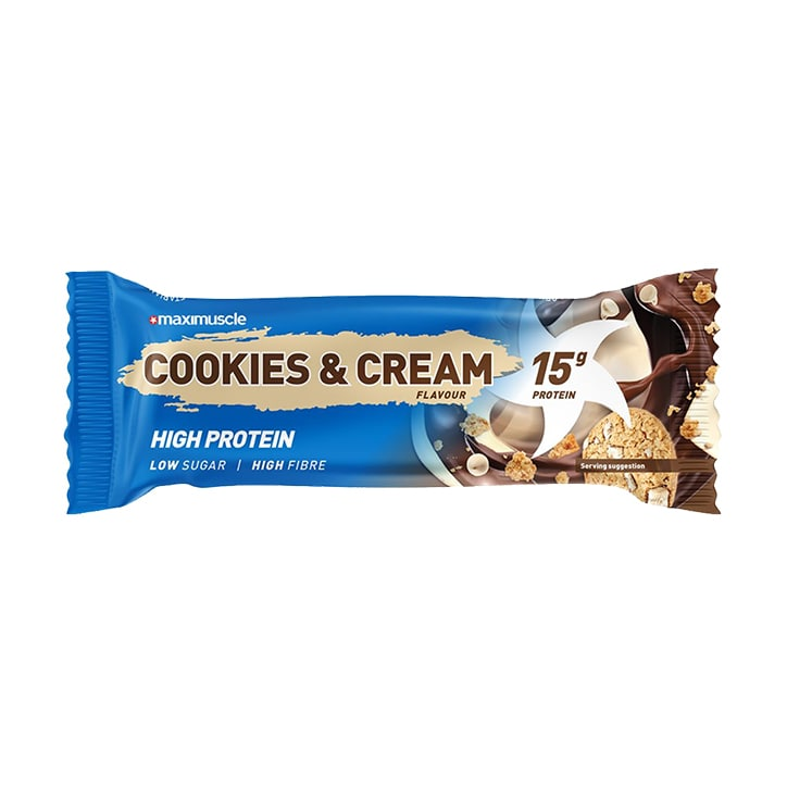 MaxiMuscle Protein Bar Cookies & Cream 45g