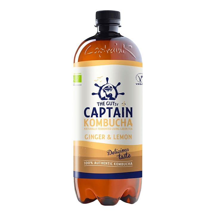 The GUTsy Captain Kombucha Ginger Lemon Kombucha 1 Litre