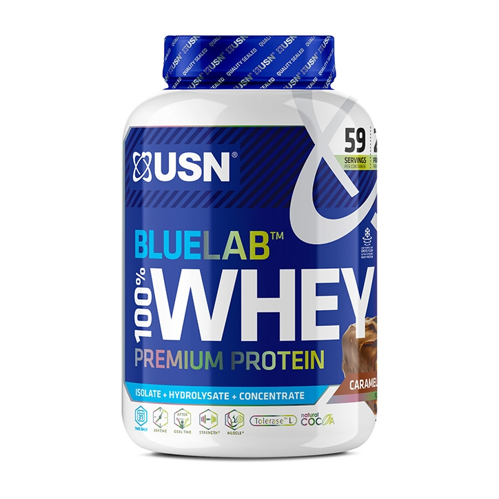 USN Blue Lab Whey Premium Protein Powder Chocolate Caramel 2kg