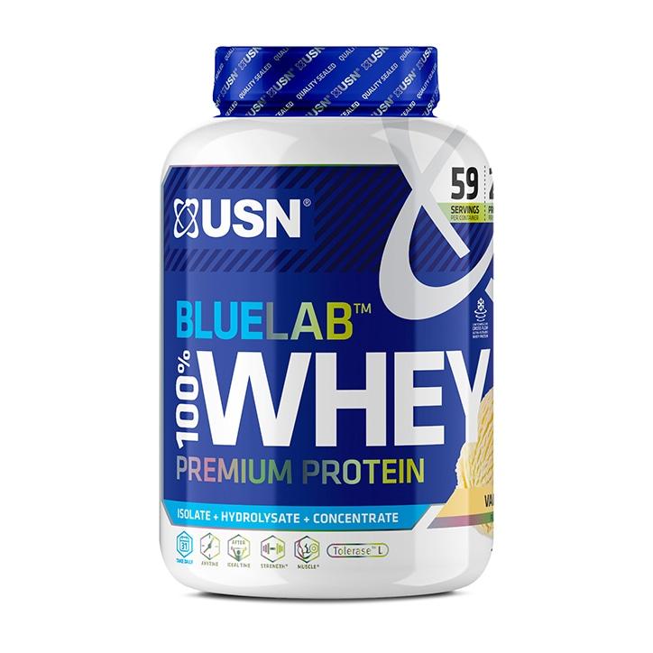 USN Blue Lab Whey Premium Protein Powder Vanilla 2kg