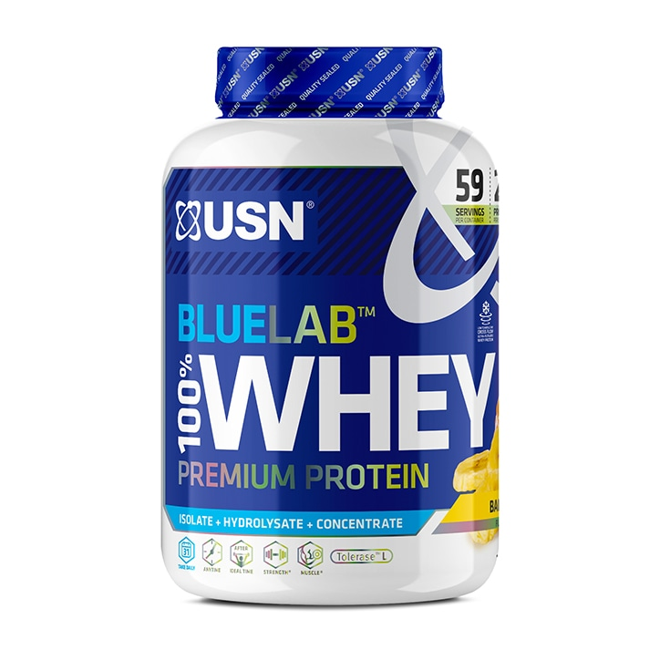 USN Blue Lab Whey Premium Protein Powder Banana 2kg