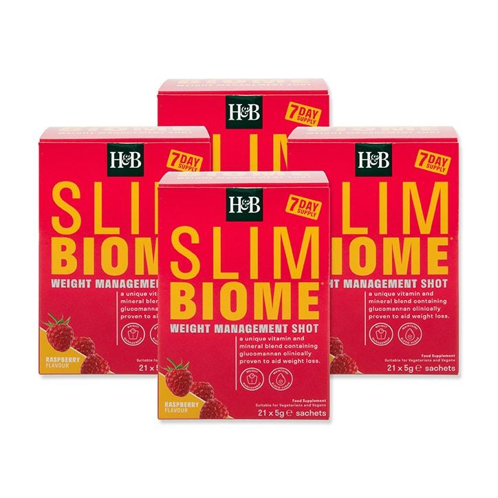 Holland & Barrett Slimbiome Raspberry Flavour 28 Day Bundle