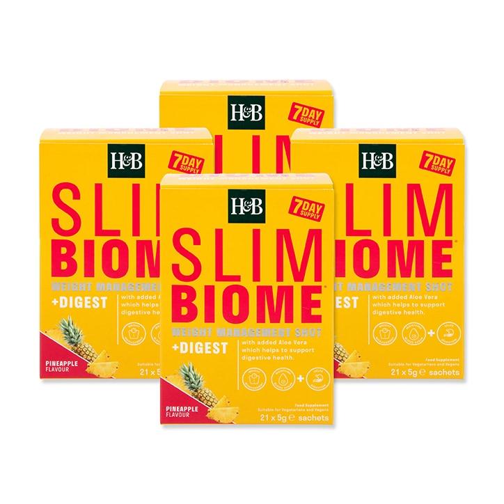 Holland & Barrett Slimbiome Digest Pineapple Flavour 28 Day Bundle