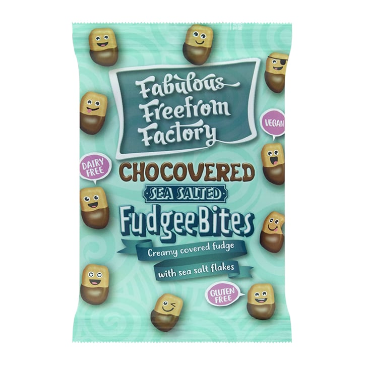 Fabulous Freefrom Factory Dairy Free Sea Salted Fudgee Bites 65g