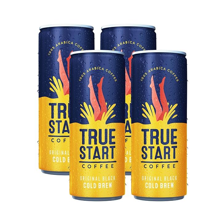 True Start Original Black Cold Brew Coffee 4 x 250ml