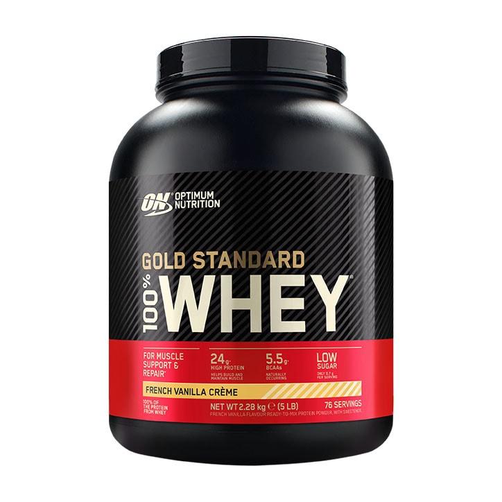 Optimum Nutrition Gold Standard 100% Whey Powder French Vanilla Crème 2.2kg