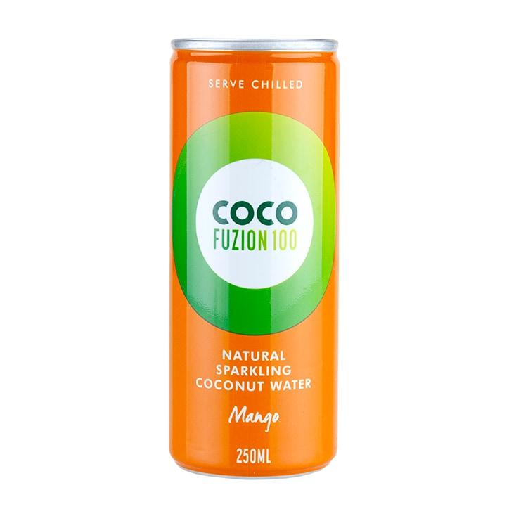 Coco Fuzion 100 Natural Sparkling Coconut Water Mango 250ml