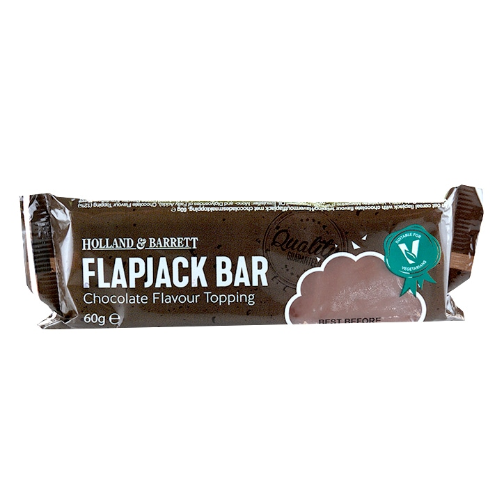 Holland & Barrett Chocolate Flavour Top Flapjack 60g
