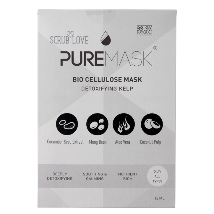 Scrub Love Puremask Detoxifying Kelp Bio Cellulose Mask 12ml