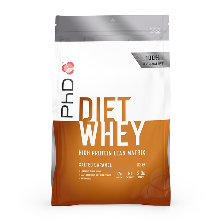 PhD Nutrition Diet Whey Protein Powder Salted Caramel 1000g