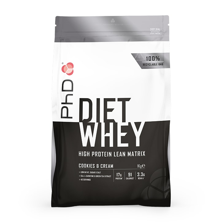 PhD Diet Whey Powder Cookies & Cream 1000g