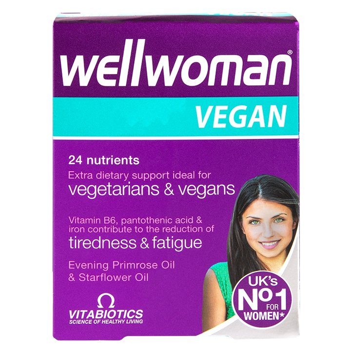 Vitabiotics Wellwoman Vegan Extra Dietary Support 60 Tablets