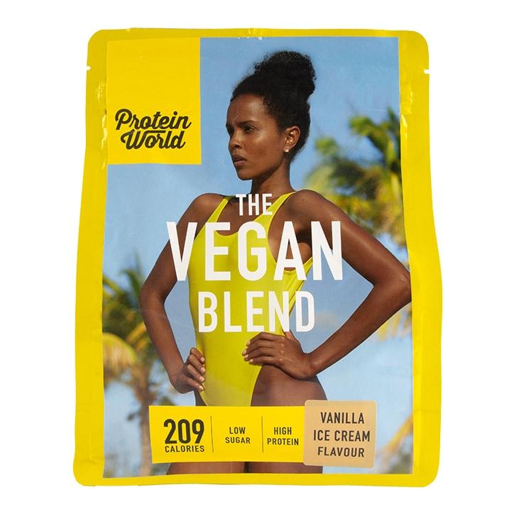 Protein World The Vegan Blend Vanilla Flavour 600g