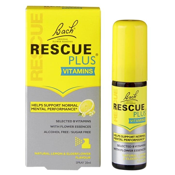Nelsons Bach Rescue Plus Vitamins Lemon Flavour Spray 20ml