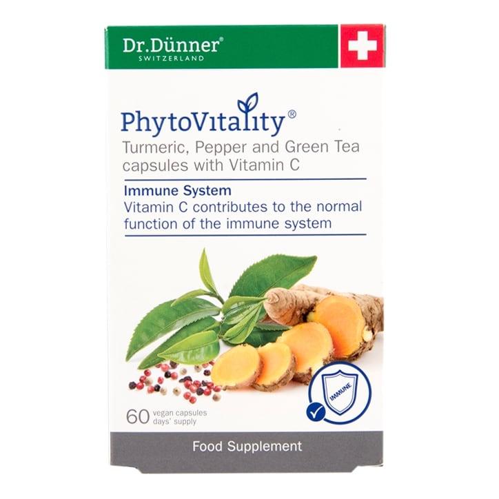 Dr Dunner Phytovitality Turmeric, Pepper & Green Tea with Vitamin C 60 Capsules
