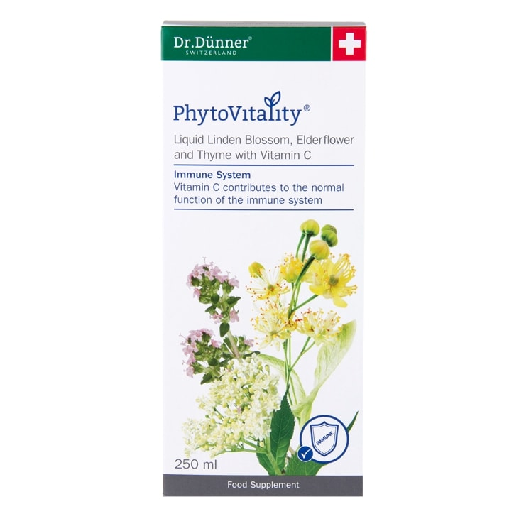 Dr Dunner PhytoVitality Liquid Linden Blossom, Elderflower and Thyme with Vitamin C
