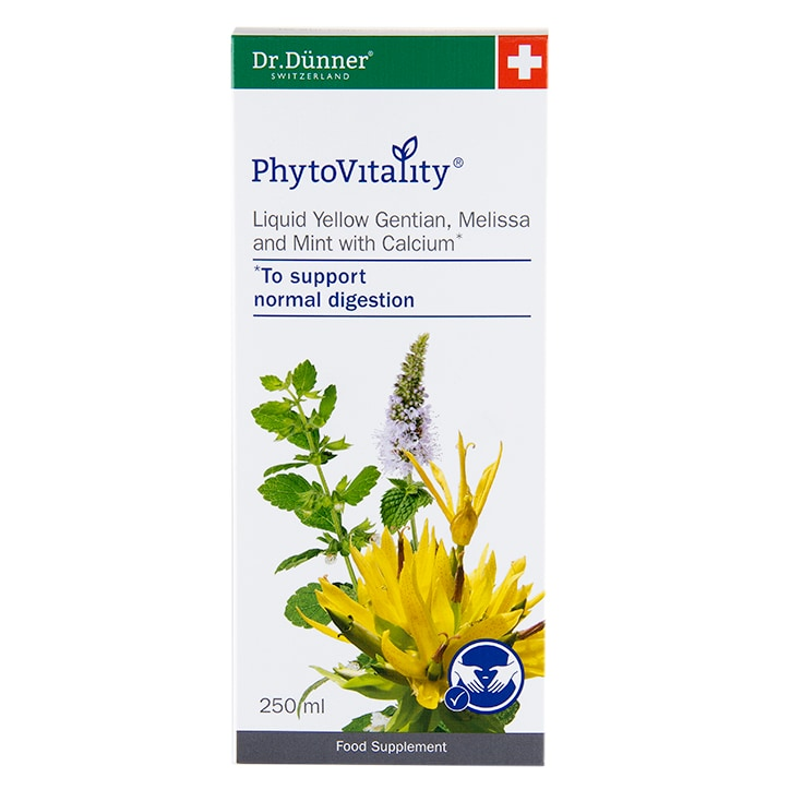 Dr Dunner PhytoVitality Liquid Yellow Gentian, Melissa and Mint with Calcium