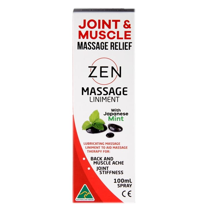 Zen Massage Liniment Joint & Muscle Relief Spray