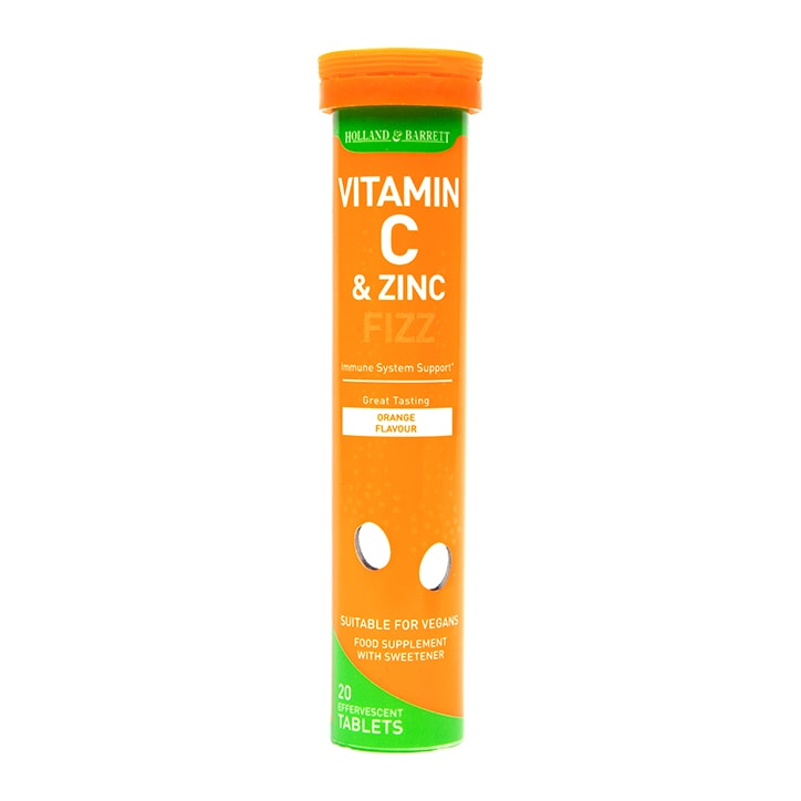 Holland & Barrett Vitamin C & Zinc Orange Effervescent 20 Tablets